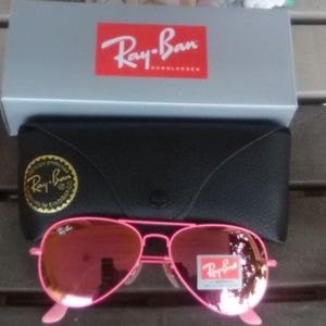 Brand New All Pink RayBan Aviators 58mm